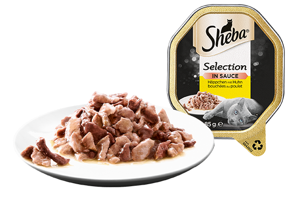 SHEBA Schale Selection Häppchen mit Huhn in Sauce 2 x 11 x 85g