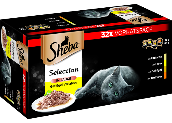 SHEBA Schale Multipack Selection in Sauce 32 x 85g