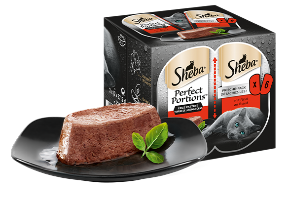 SHEBA PERFECT PORTIONS Edle Pastete mit Rind 3x(2x37,5g)